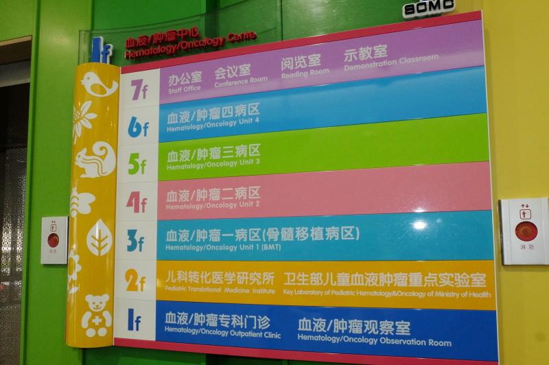 上海小児病院 フロア