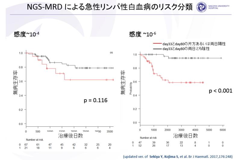 NGS-MRDによる急性リンパ性白血病のリスク分類