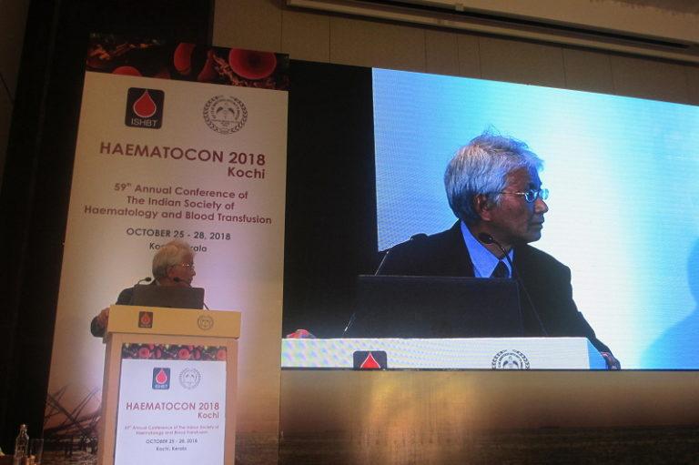 第59回インド血液・輸血学会総会 HAEMATOCON 2018 名古屋大学 名誉教授 小島勢二