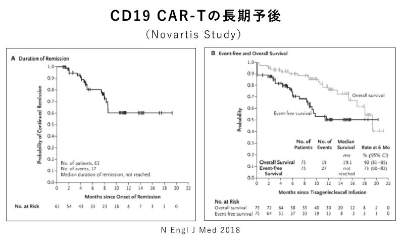CD19 CAR-Tの長期予後