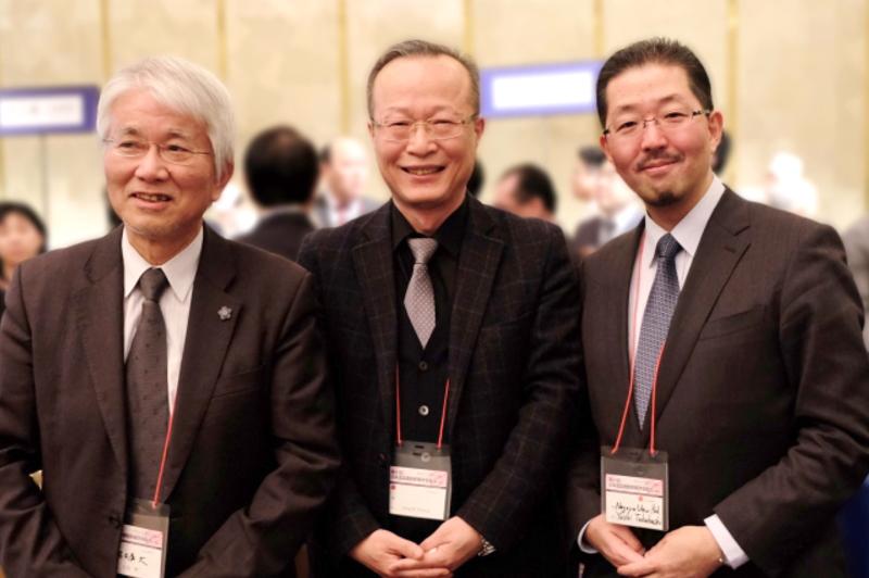 左から、名古屋大学 小島名誉教授、サムソン医療センター Sung教授、名古屋大学小児科 高橋教授