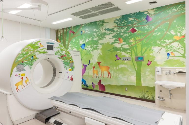 CT検査室 テーマ「森と動物たち」名古屋大学医学部附属病院 クラウドファンディング