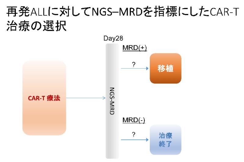 再発ALLに対してNGS-MRDを指標にしたCAR-T治療の選択