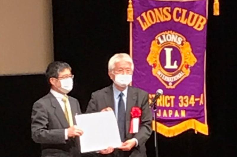 ライオンズクラブ国際協会334-A地区から、自動セルカウンターの寄贈