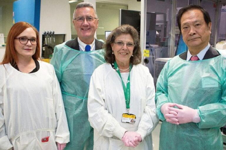 オーストラリアの研究施設を視察された山田元ライオンズクラブ国際会長